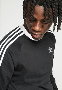 adidas Originals - 3-STRIPES - Langærmede T-shirts - black - 3