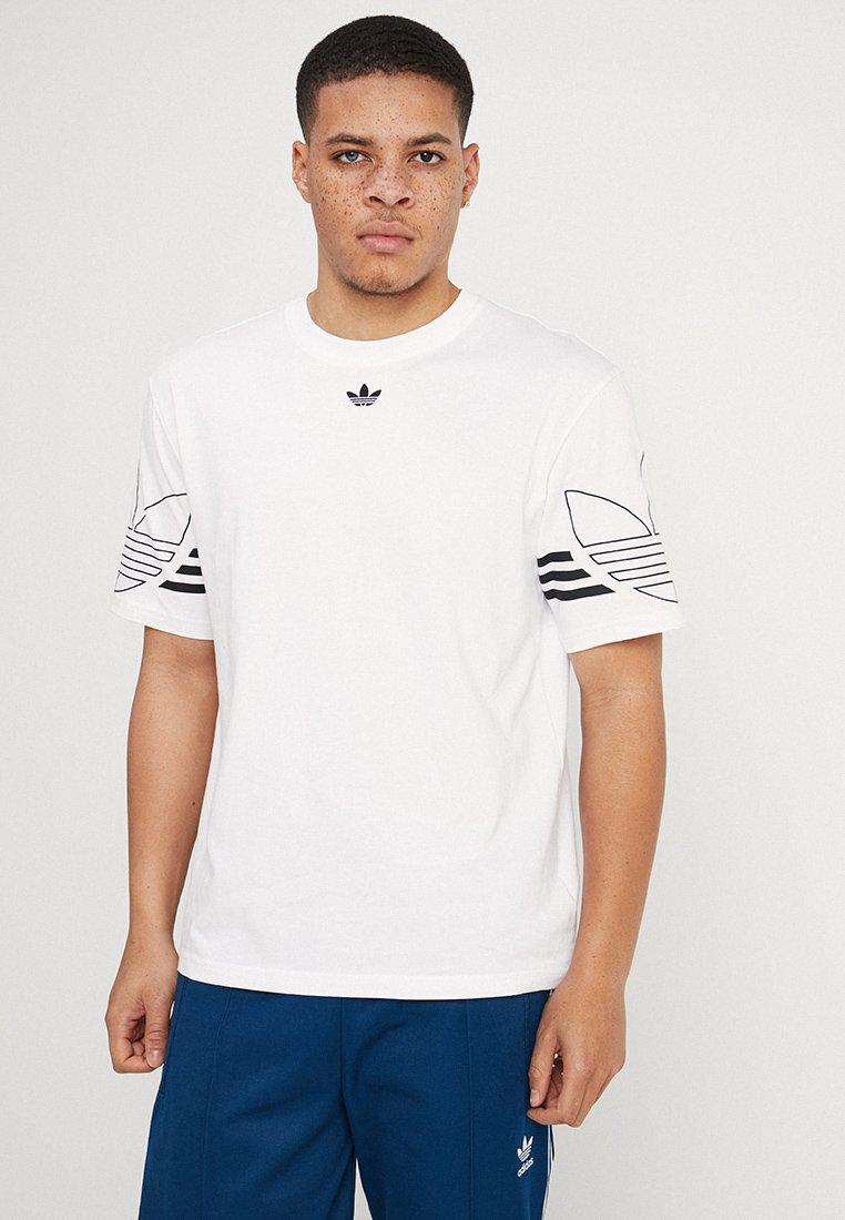 adidas Originals - OUTLINE TEE - Print T-shirt - white