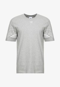 adidas Originals - OUTLINE TEE - T-shirt print - mottled grey - 3