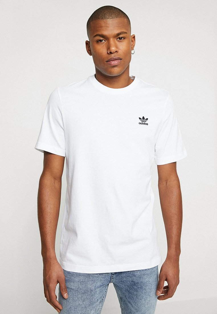 adidas Originals - ADICOLOR ESSENTIAL TEE - T-shirt med print - white