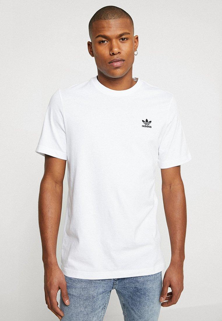 adidas Originals - ADICOLOR ESSENTIAL TEE - T-shirt z nadrukiem - white