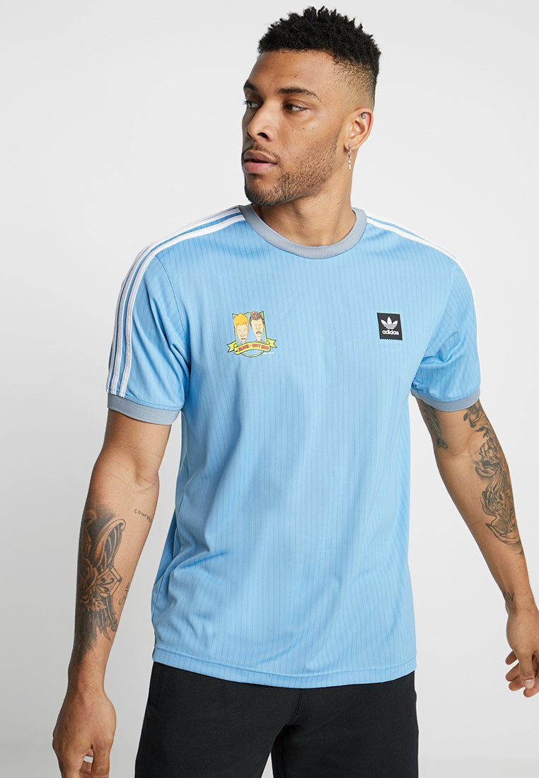 adidas Originals - T-shirt imprimé - light blue/white