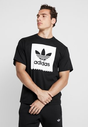SOLID - T-shirt print - black/white