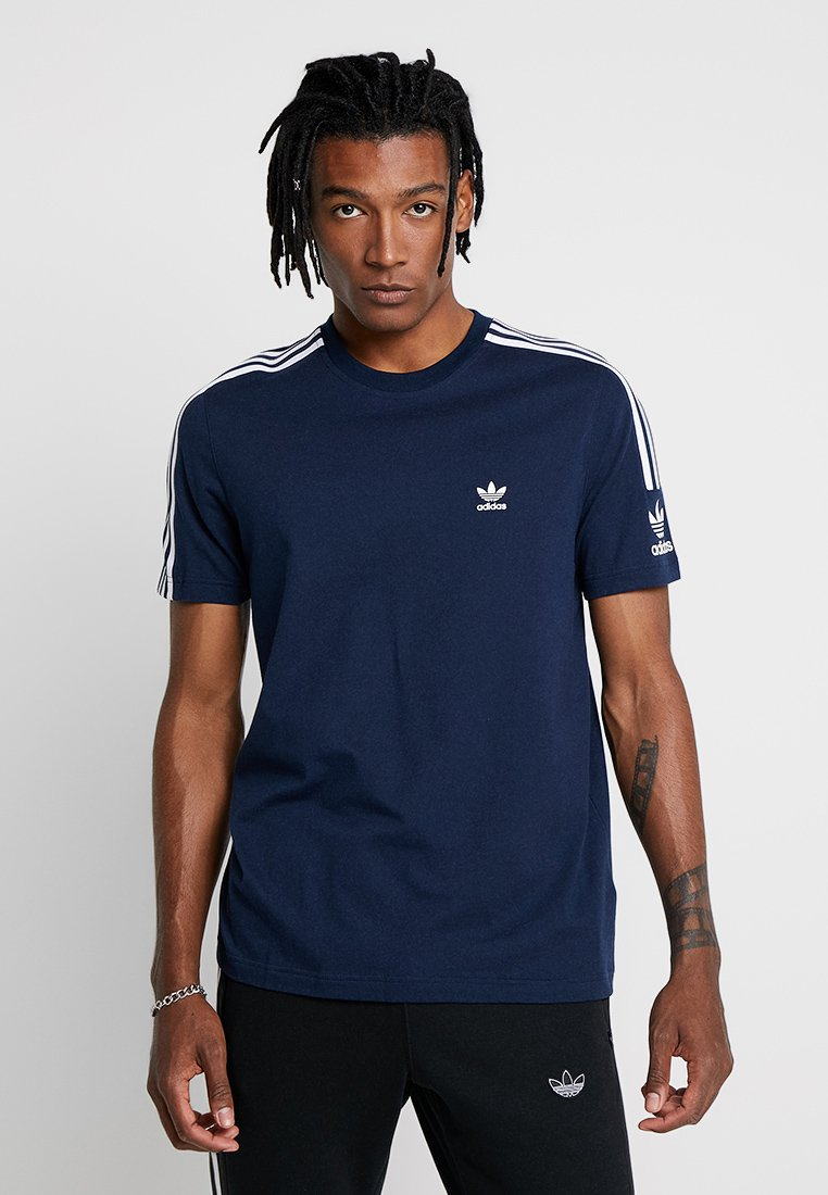 adidas Originals - TECH TEE - T-Shirt print - navy
