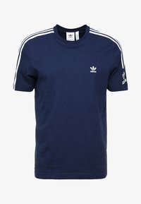 adidas Originals - TECH TEE - Print T-shirt - navy - 4