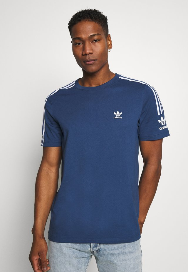 ADICOLOR TREFOIL SHORT SLEEVE TEE - T-shirt con stampa - marine