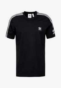 adidas Originals - TECH TEE - T-shirt z nadrukiem - black - 4
