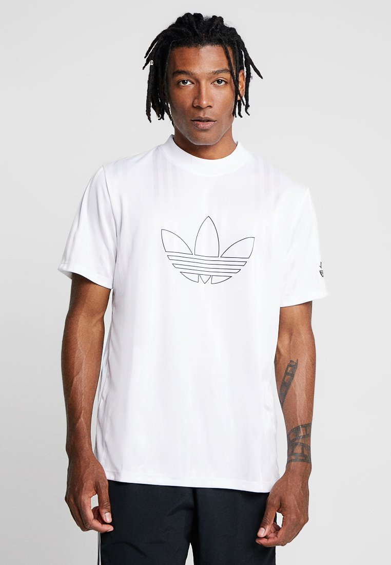 adidas Originals - OUTLINE JERSEY - T-shirt med print - white