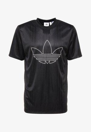 OUTLINE JERSEY - Camiseta estampada - black