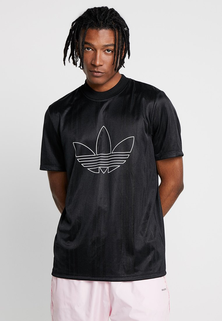 adidas Originals - OUTLINE JERSEY - T-Shirt print - black