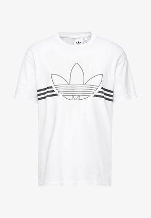 OUTLIN TEE - T-shirt imprimé - white