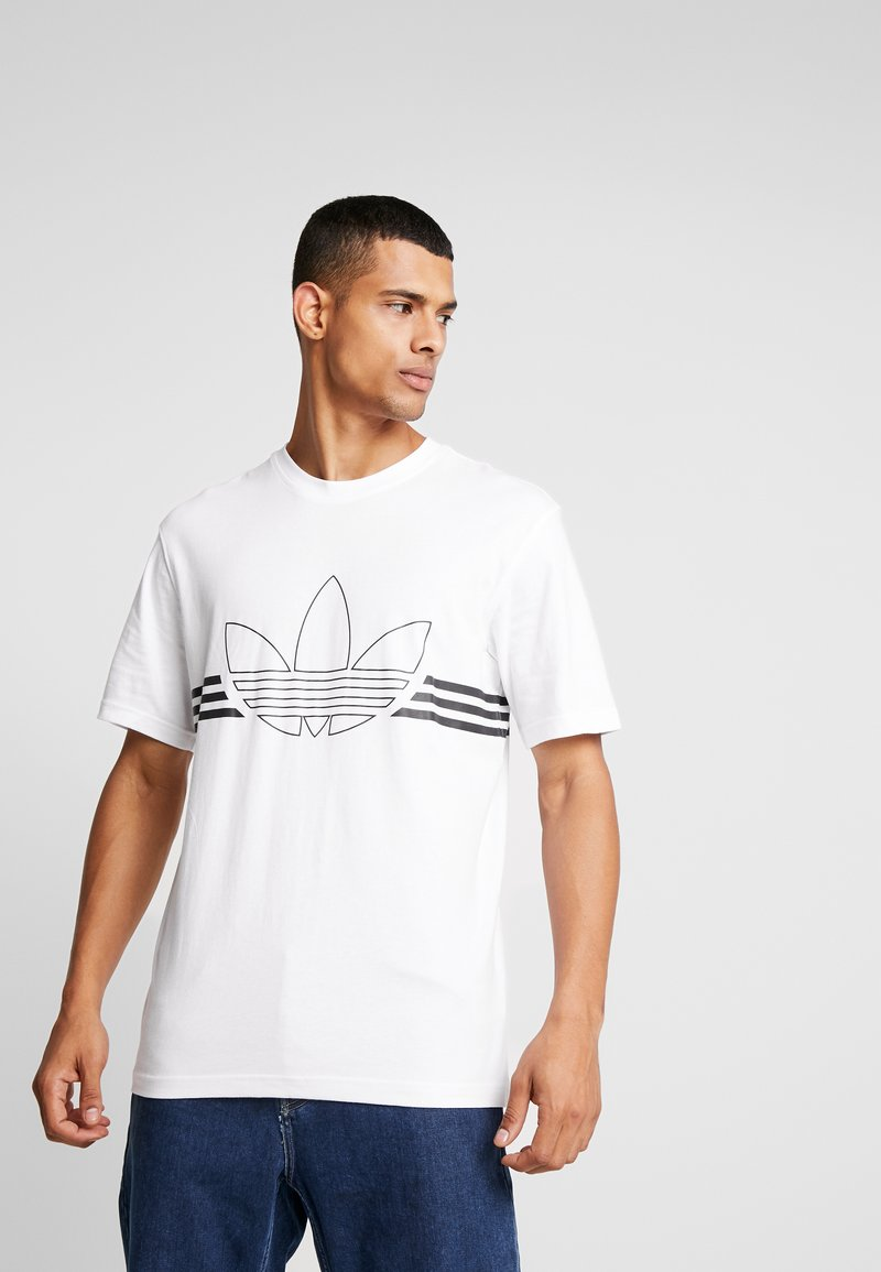 adidas Originals - OUTLIN TEE - T-shirt med print - white