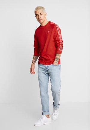 Long sleeved top - scarlet