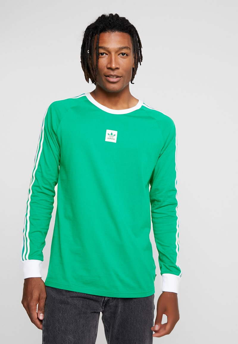 adidas Originals - CALI TEE - Långärmad tröja - bold green/white