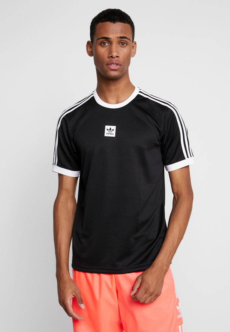 adidas Originals - CLUB - Camiseta estampada - black/white