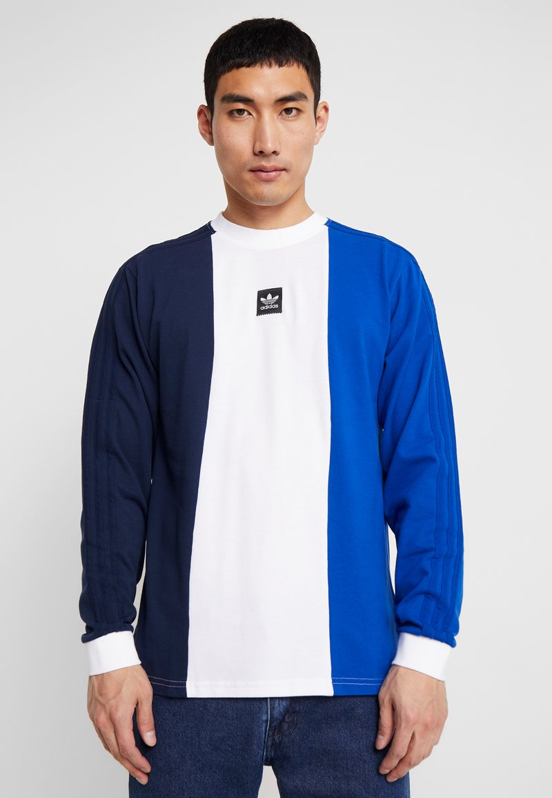 adidas Originals - TRIPART TEE - Camiseta de manga larga - collegiate navy/white/collegiate royal