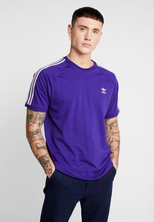 ADICOLOR 3 STRIPES TEE - T-shirt imprimé - collegiate purple