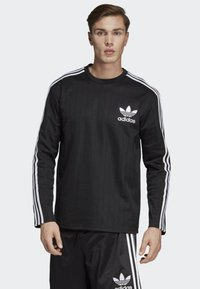 adidas Originals - BASEBALL CREWNECK SWEATSHIRT - Långärmad tröja - black - 0