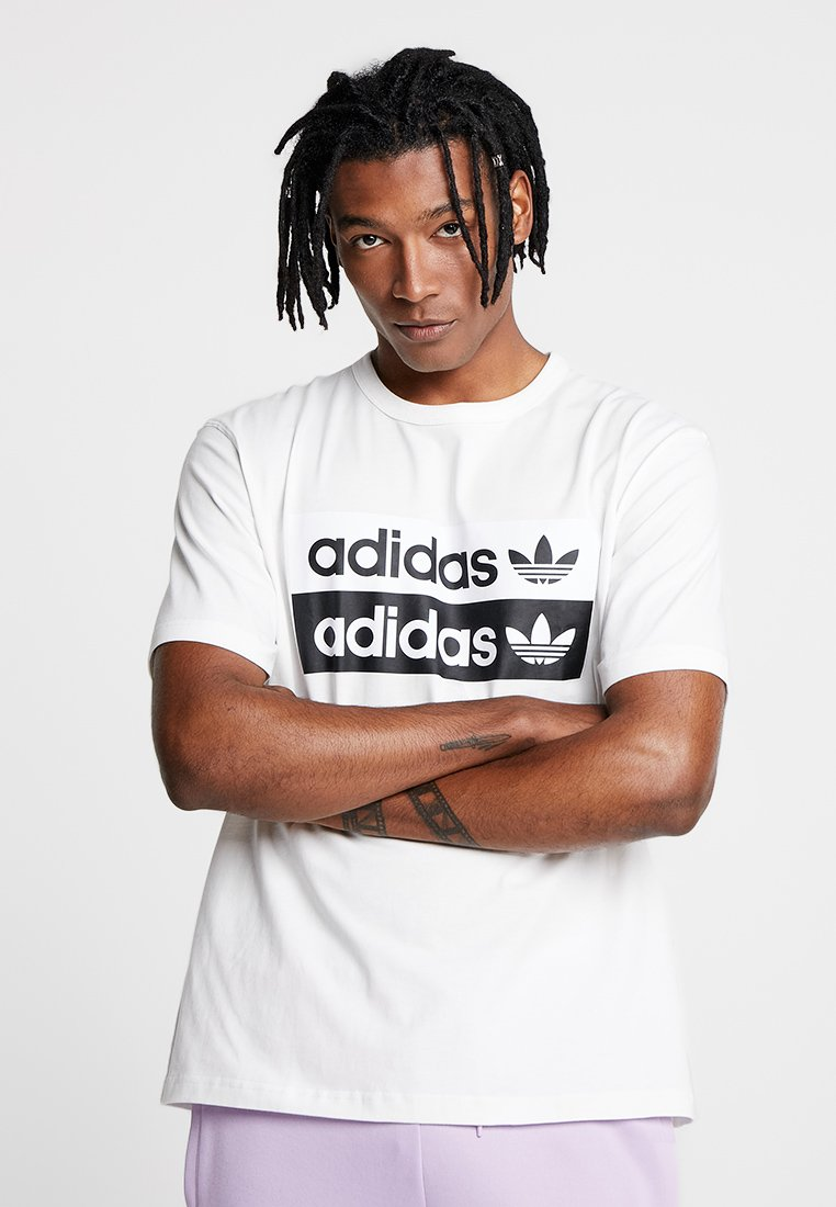 adidas Originals - RETRO LOGO TEE - T-Shirt print - core white