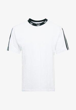 TREFOIL RIB TEE - T-shirt med print - white/black