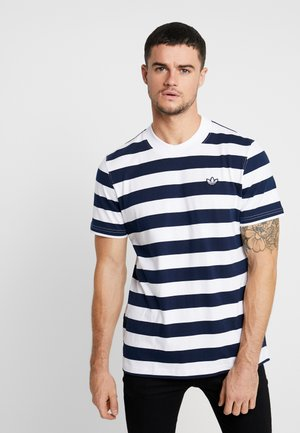 STRIPE TEE - Camiseta estampada - night indigo/white