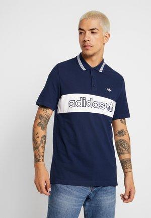 STRIPE TEE - Polo shirt - night indigo/white