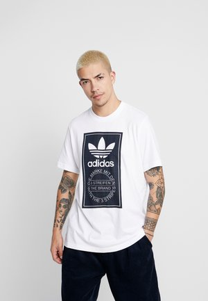 TARTAN TONGUE  - T-shirt print - white