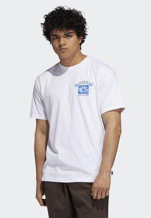 BK FLOWERS T-SHIRT - T-shirt print - white