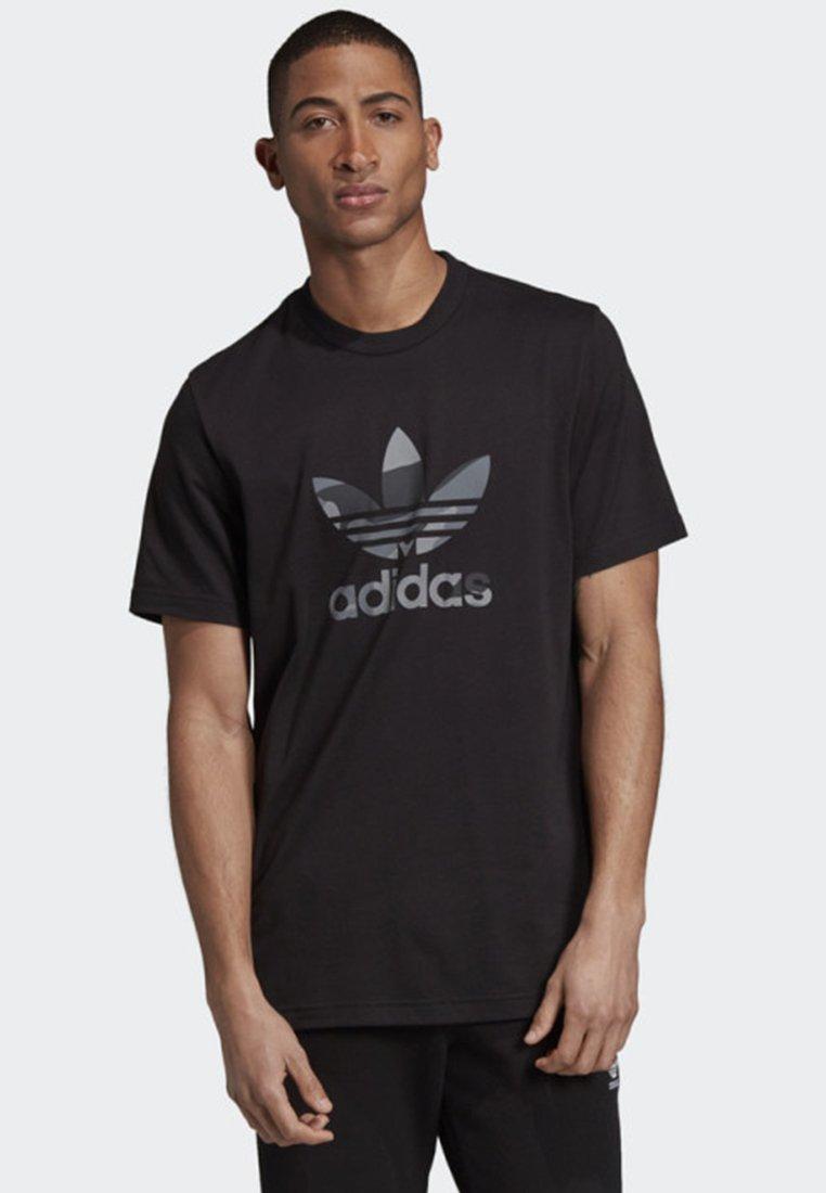 adidas Originals - CAMOUFLAGE TREFOIL T-SHIRT - Print T-shirt - black