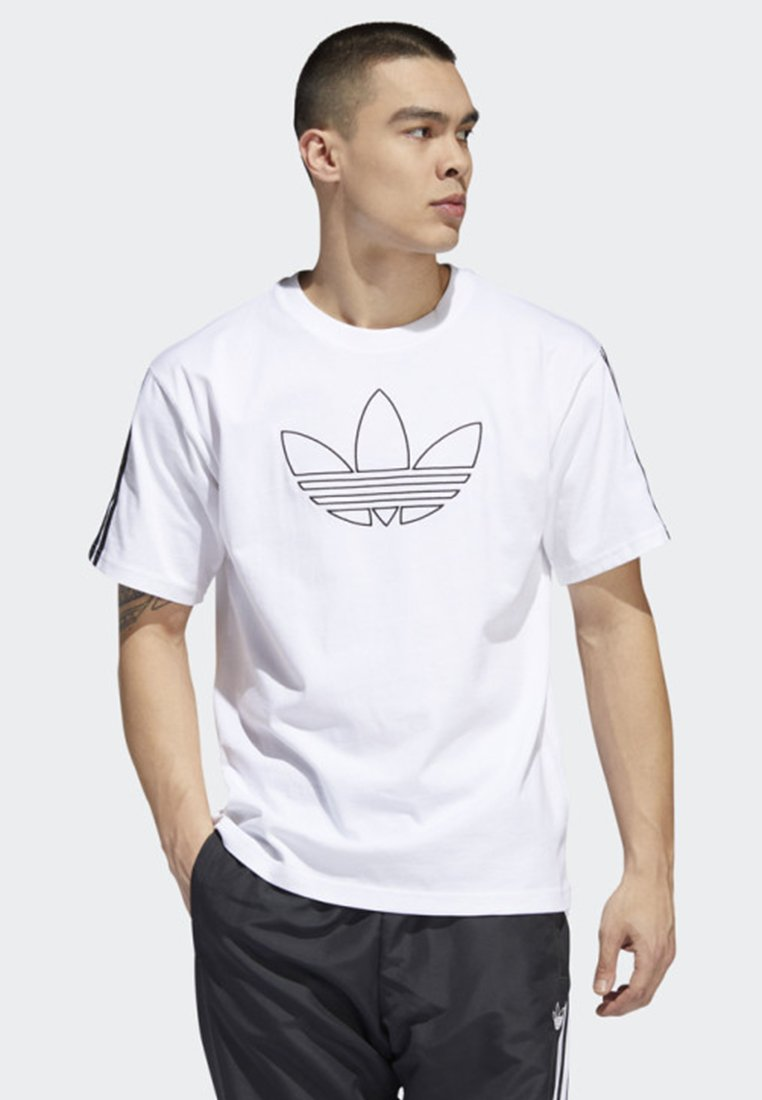 adidas Originals - OUTLINE TREFOIL T-SHIRT - T-shirt con stampa - white
