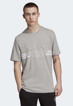 OUTLINE T-SHIRT - T-shirt imprimé - grey
