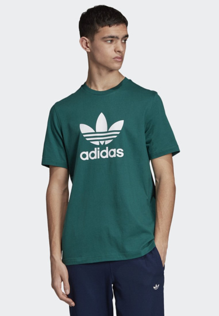 adidas Originals TREFOIL T-SHIRT - T-shirt z nadrukiem - green