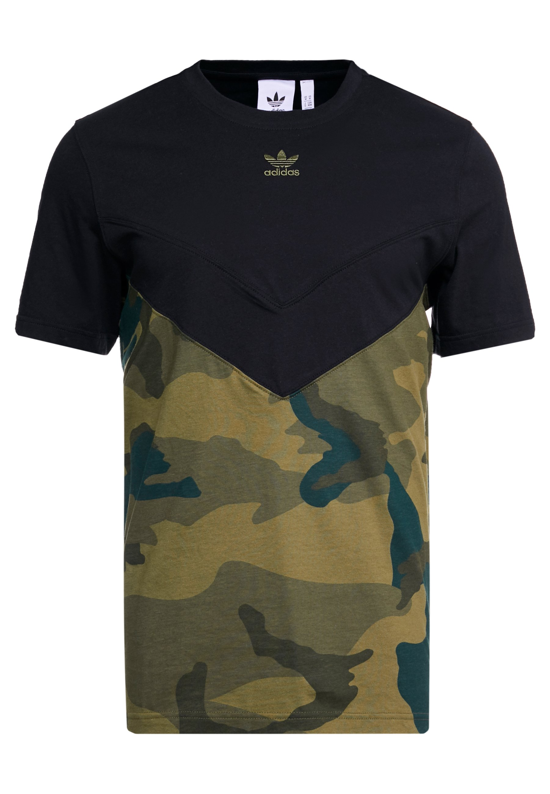 adidas Originals BLOCK - T-shirt z nadrukiem - black/multicolor