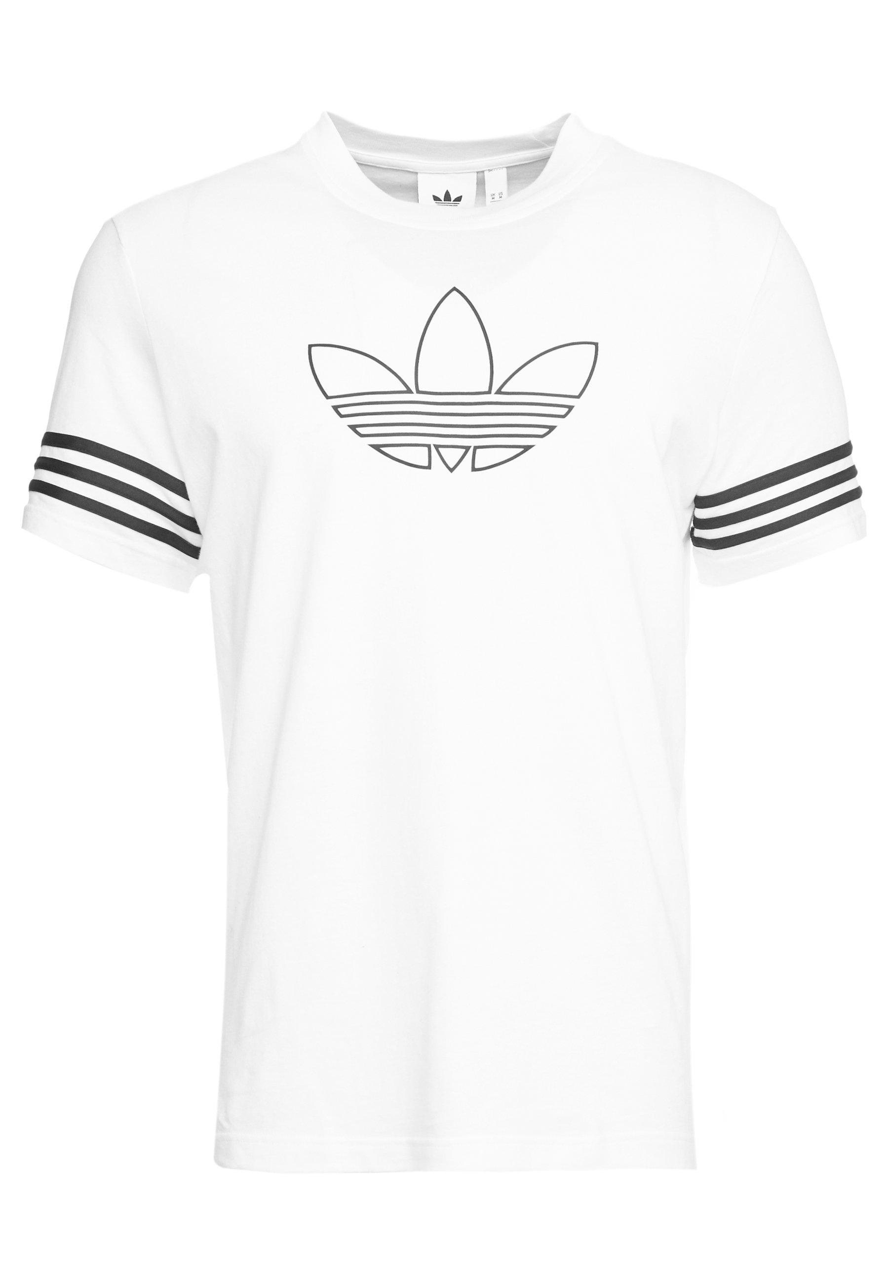 Adidas Originals Outline Tee - T-shirts Med Print White