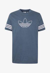 adidas Originals - OUTLINE TEE - Camiseta estampada - dark blue - 4