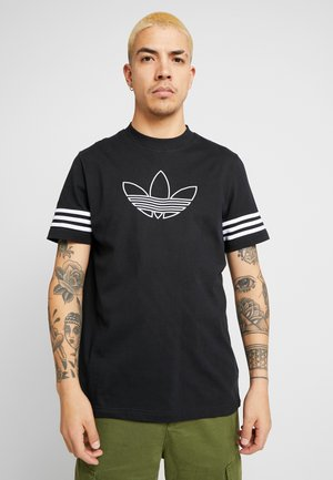 OUTLINE TEE - Printtipaita - black