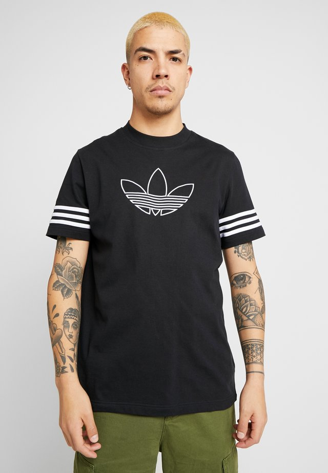 OUTLINE TEE - T-shirt con stampa - black