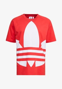 adidas Originals - TREFOIL TEE - Camiseta estampada - lush red - 4