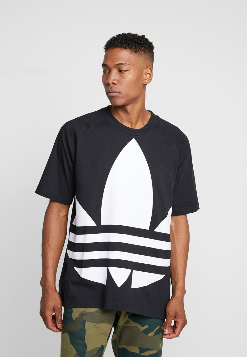 adidas Originals - TREFOIL TEE - T-shirt con stampa - black