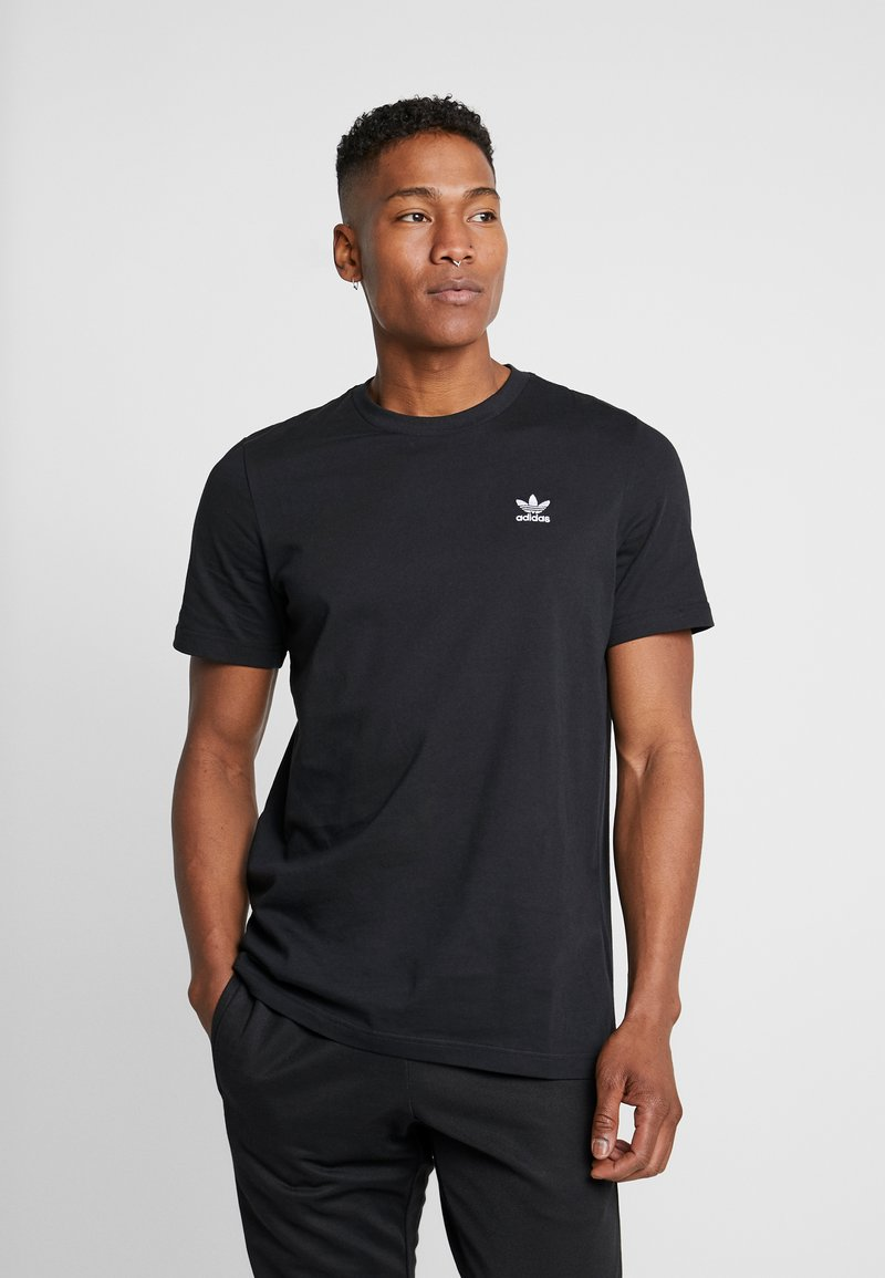 adidas Originals - ESSENTIAL TEE - T-shirt - bas - black