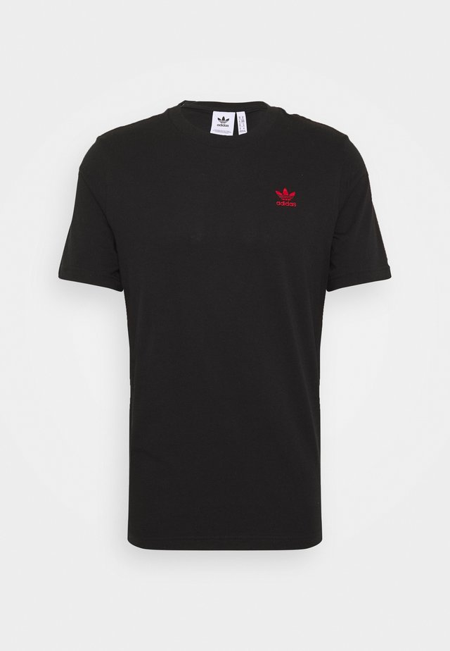 ESSENTIAL TEE - T-Shirt basic - black/red
