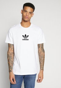 adidas Originals - ADICOLOR PREMIUM SHORT SLEEVE TEE - T-shirt imprimé - white - 0