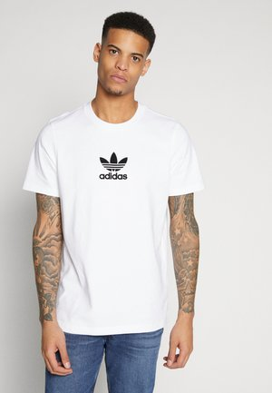ADICOLOR PREMIUM SHORT SLEEVE TEE - Print T-shirt - white