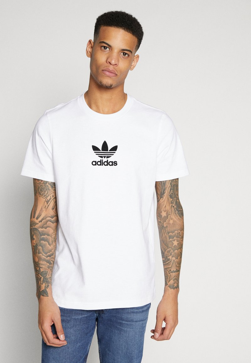 adidas Originals - ADICOLOR PREMIUM SHORT SLEEVE TEE - T-shirt imprimé - white