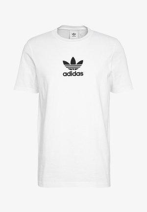ADICOLOR PREMIUM SHORT SLEEVE TEE - T-shirt z nadrukiem - white