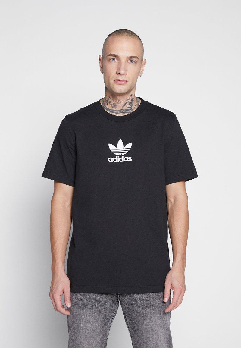adidas Originals - ADICOLOR PREMIUM SHORT SLEEVE TEE - Camiseta estampada - black