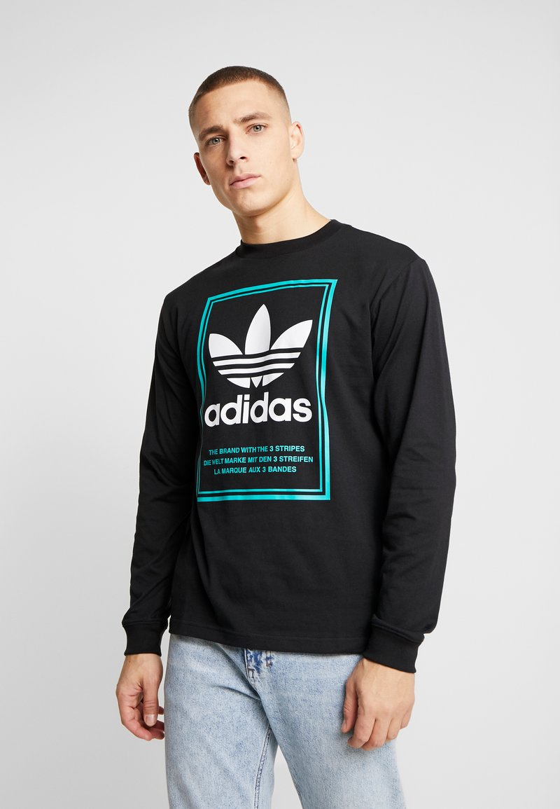 adidas Originals - TONGUE LABEL - Pitkähihainen paita - black