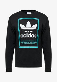 adidas Originals - TONGUE LABEL - Pitkähihainen paita - black - 4