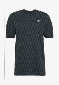 adidas Originals - MONO TEE - Camiseta estampada - black/boonix - 4