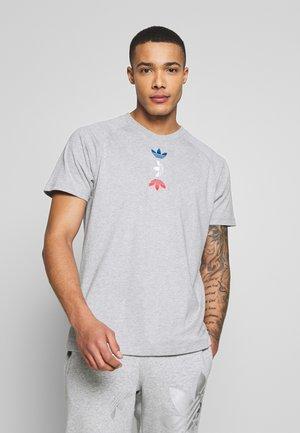 MET TEE - T-shirt print - grey